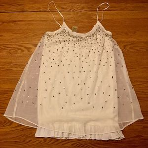NWT Layered Babydoll Dress w Sequins